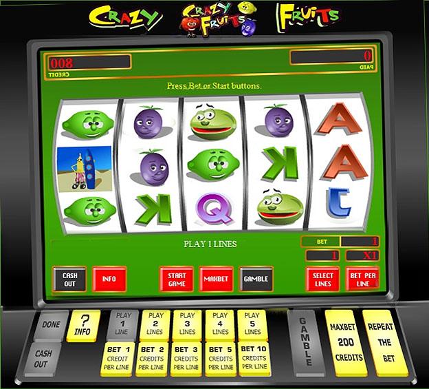 Автоматы игровые crazi fruits наказание за казино в интернет кафе