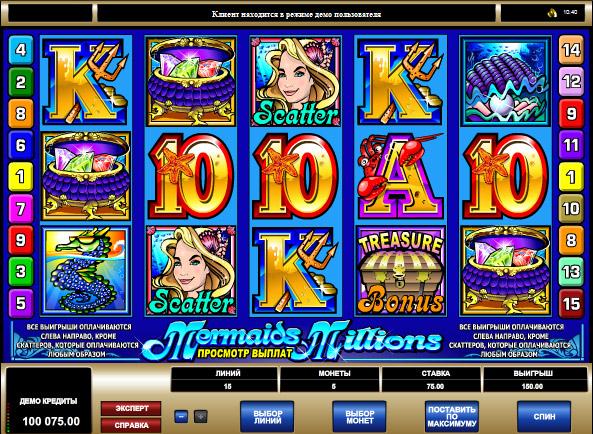 Mermaids Millions online