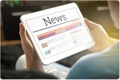 Читать новости на планшете