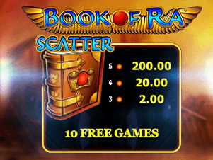 book of ra free spin