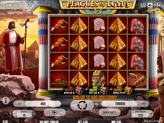Игровой слот Plagues Of Egypt