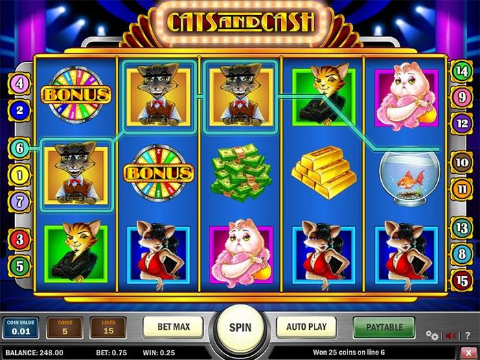 слот Cats and Cash играть бесплатно