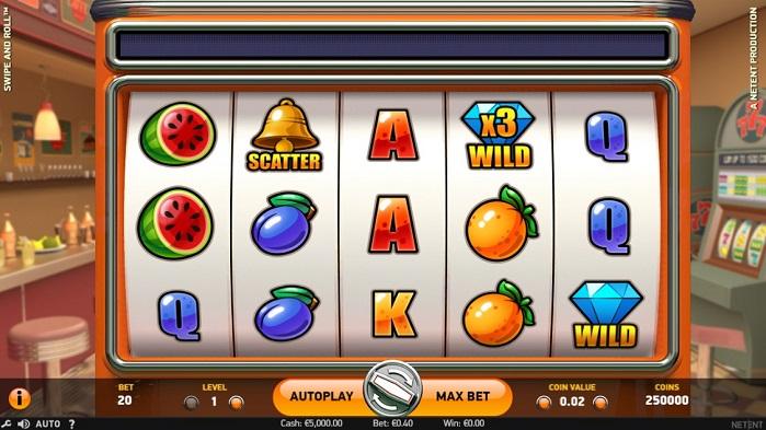 Игровой автомат Swipe and Roll играть бесплатно
