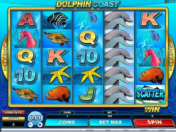 Игровой автомат Dolphin Coast на деньги