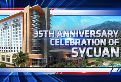 Казино Sycuan празднует свой 35-летний юбилей