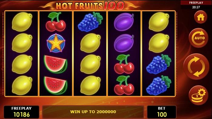Игровой автомат Hot Fruits 100