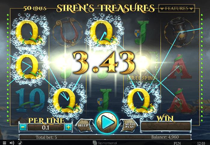 Игровой автомат Siren's Treasures