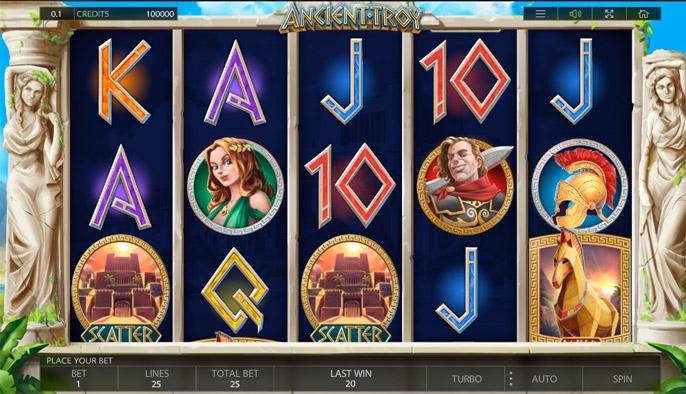Онлайн слот Ancient Troy
