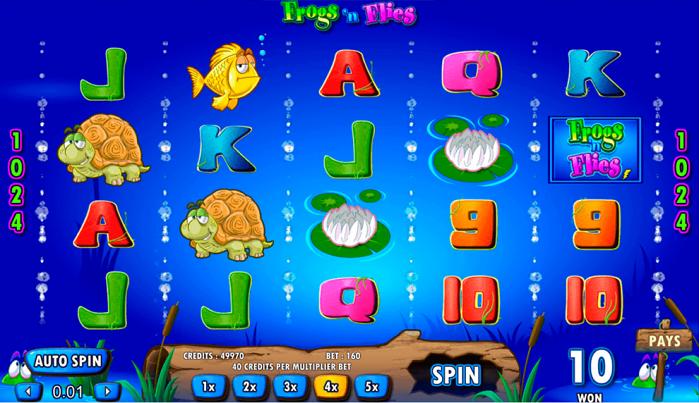 Игровой автомат Temple Cash Frogs N Flies