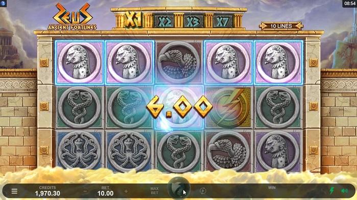Онлайн слот Ancient Fortunes: Zeus