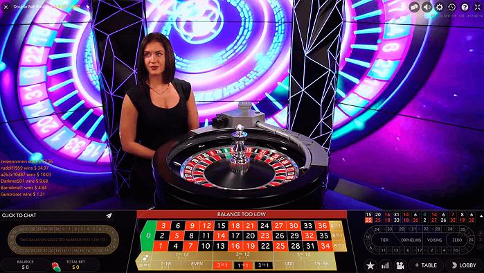 Игровой автомат Live Double Ball Roulette