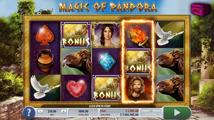 Игровой автомат Magic of Pandora