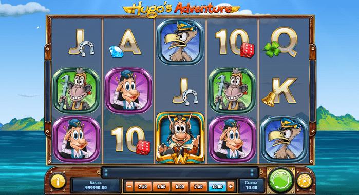 Игровой автомат Hugo's Adventure